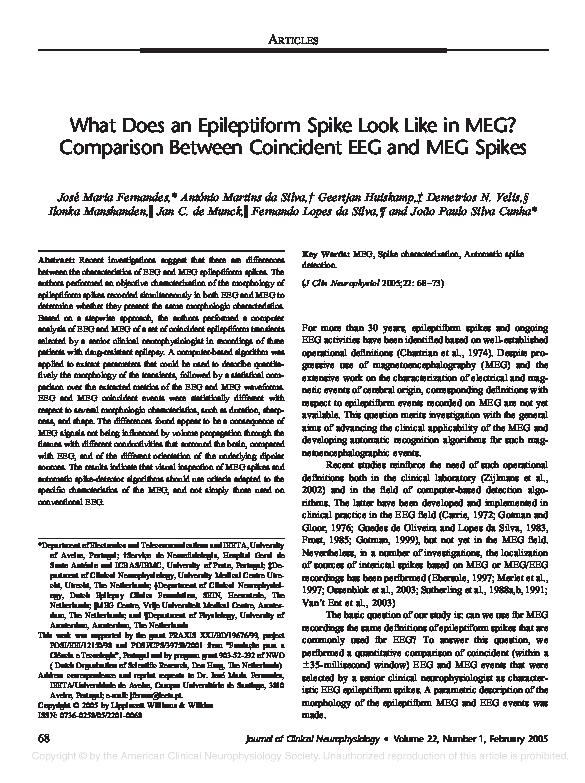 PDF) What Does an Epileptiform Spike Look Like in MEG