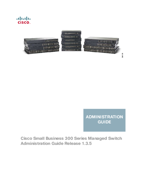 PDF) Cisco Small Business 300 Series Managed Switch