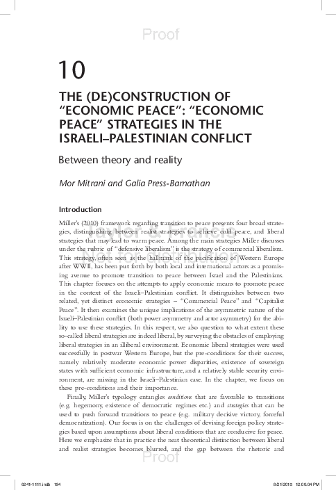 Image And Reality Of The Israel-palestine Conflict Pdf