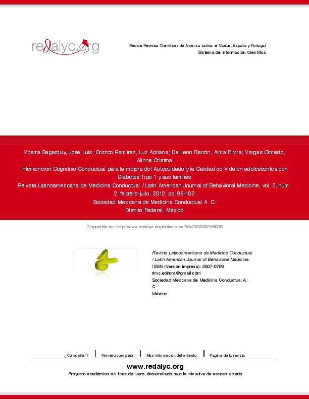 diabetes tipo 1 articulos pdf