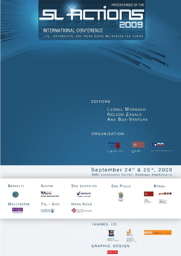 PDF) Slactions 2009 | Nelson Zagalo - Academia edu