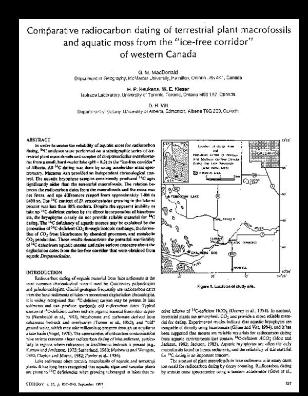 Carbon dating Kanada