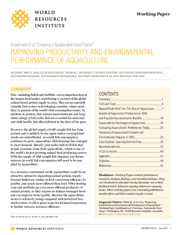 PDF) Improving productivity and environmental performance of