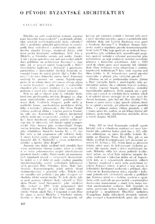 PDF) Václav Mencl : O původu byzantské architektury / The