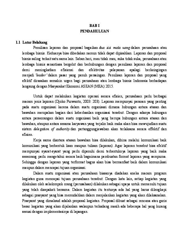 Doc Proposal Dan Laporan Bisnis 2 Rama Kanoraga Academia Edu
