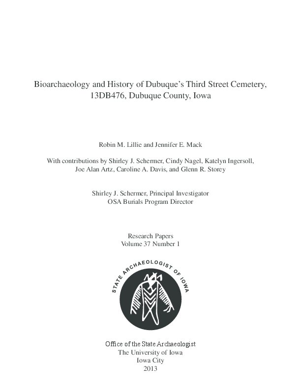 Bioarchaeology and History of Dubuque s Third Street Cemetery ... 36404fb1e6f
