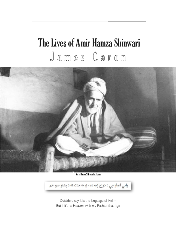 The lives of Amir Hamza Shinwari: on personal histories against an