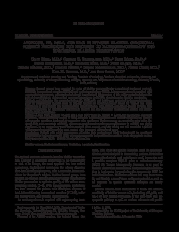PDF) Apoptosis, p53, bcl-2, and Ki-67 in invasive bladder
