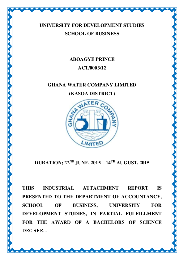 PDF) Industrial Attachment Report | Prince Aboagye