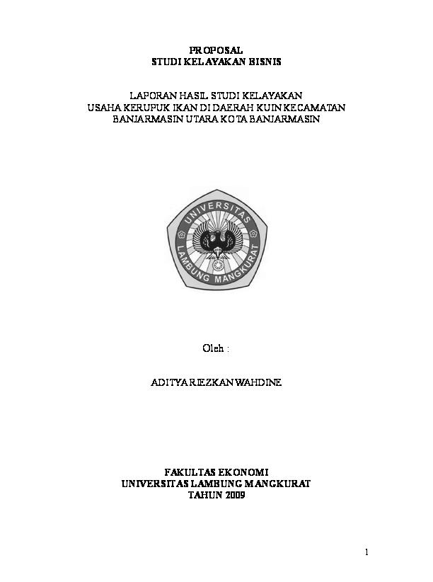 Doc Proposal Studi Kelayakan Bisnis Gino Gebastian Academia Edu
