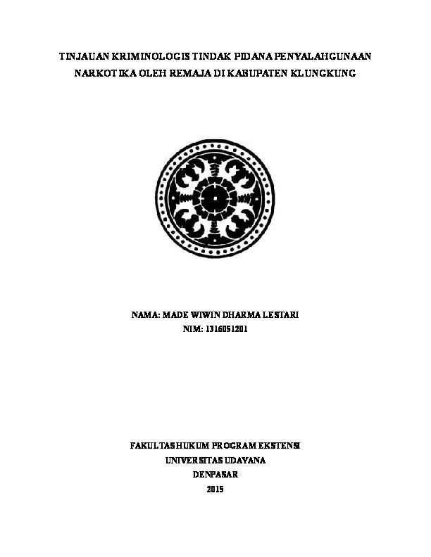 Doc Contoh Proposal Skripsi Hukum Pidana Wiwin Dharma Academia Edu