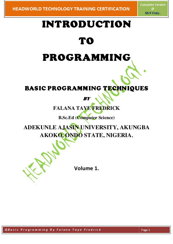 PDF) THE PROGRAMMING KNOW-HOW USING QBASIC PROGRAMMING TECHNIQUES
