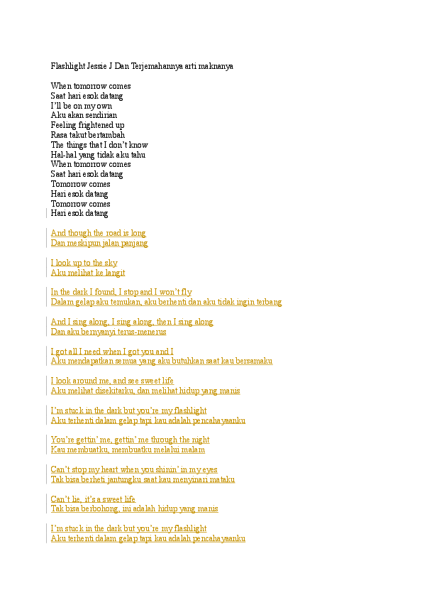Lirik lagu when you tell me that you love me terjemahannya