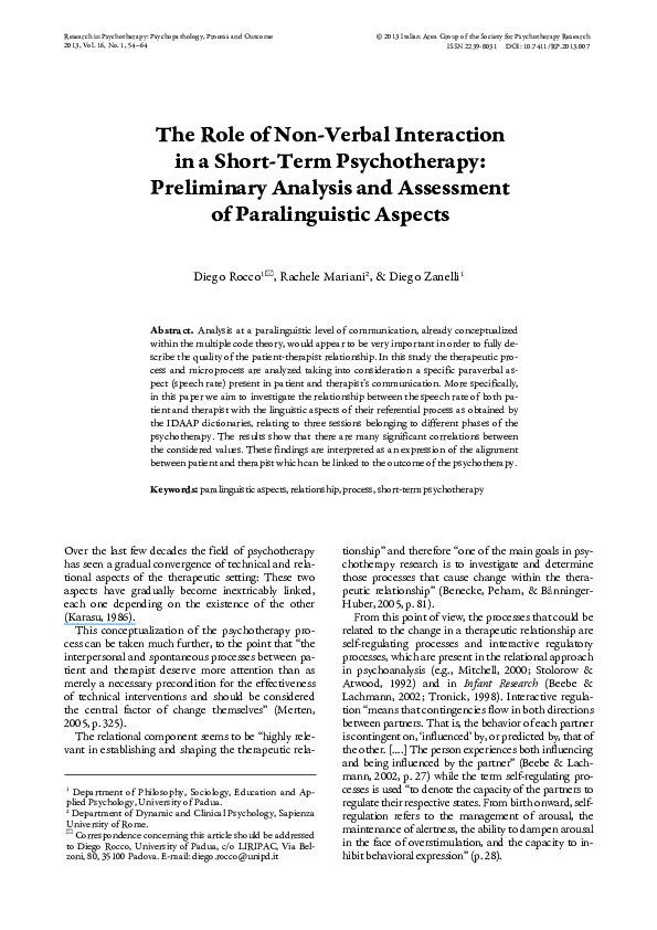 Research On The Effects Of Touch - Austin Attachment