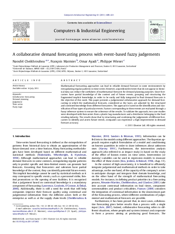 PDF) A collaborative demand forecasting process with event-based