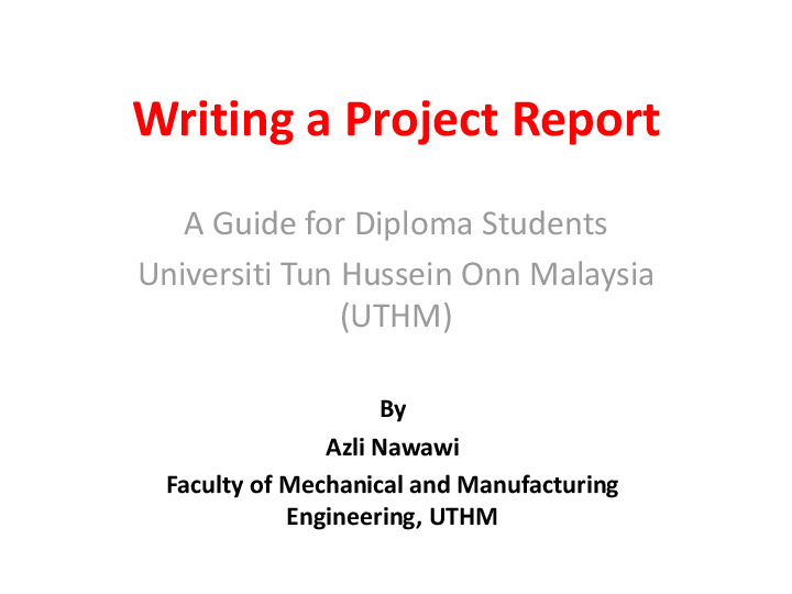 uthm thesis writing guideline