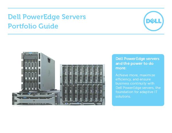 Dell PowerEdge Servers Portfolio Guide | agus imam