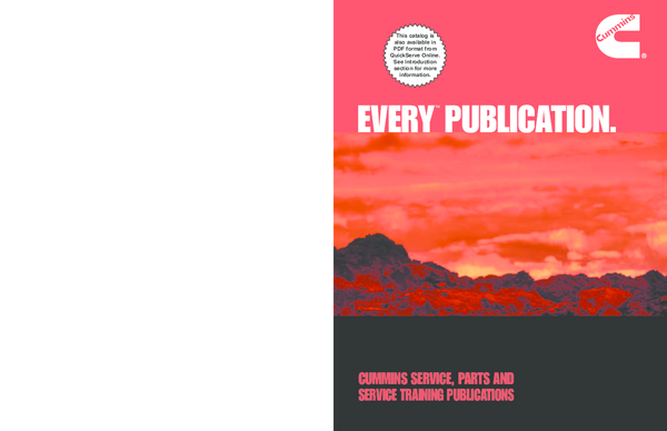 pdf cummins service parts and service training