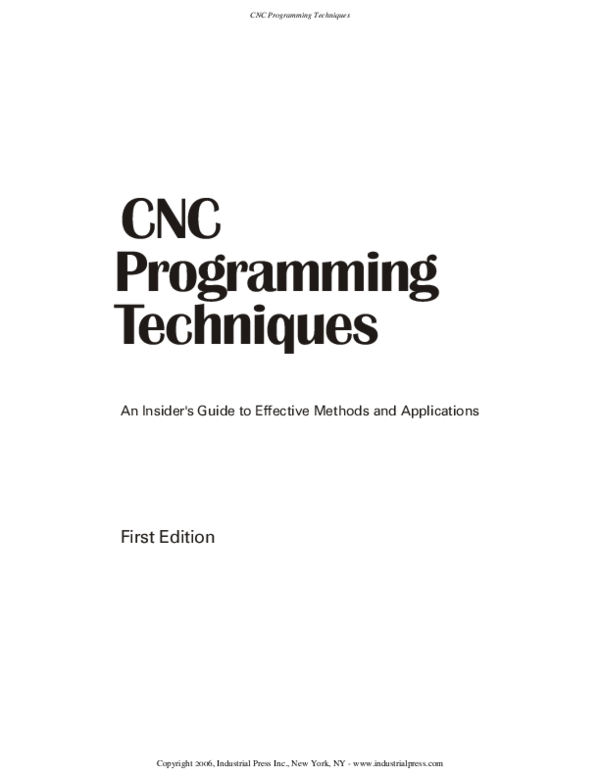 PDF) CNC Pro gram ming Tech niques | mahmoud nabil