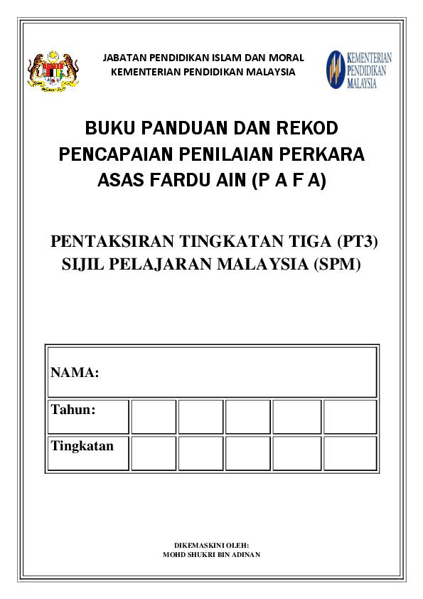 Pdf Pafa Perkara Asas Fardhu Ain Mohd Shukri Academia Edu