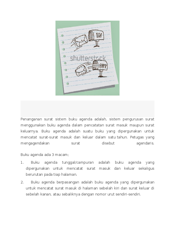Doc Penanganan Surat Masuk Dan Keluar Sistem Buku Agenda