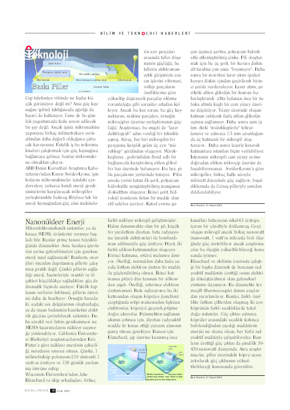Pdf Bilim Teknik Dergisinin 2002 Yili Evren Isbilen Academia Edu
