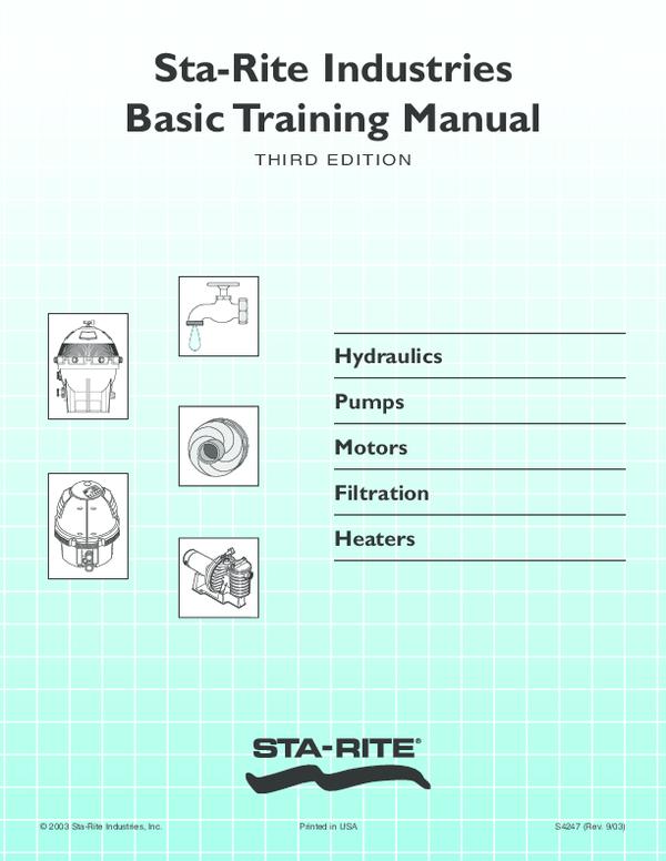 PDF) Sta-Rite Industries Basic Training Manual Hydraulics Pumps