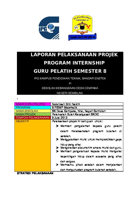 Doc Laporan Pelaksanaan Projek Nur Atiqhah Ahmad Academia Edu