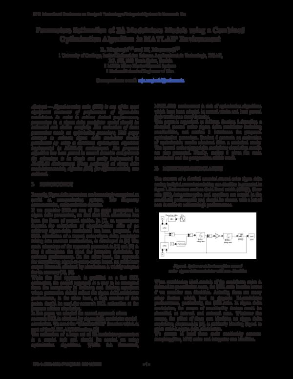 Parameters estimation of ΣΔ modulators models using a combined