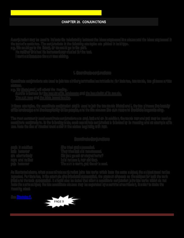 PDF) Conjunctions gram+exer ss | Olaf Huerta - Academia edu