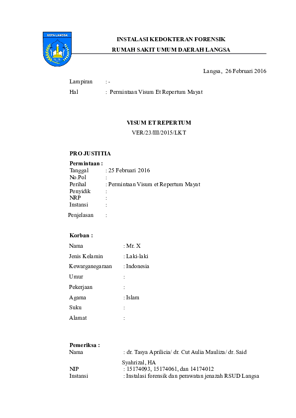 Doc Format Ver Jenazah Cam Cut Mauliza Ii Academiaedu