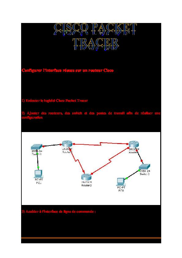 Configurer l'interface réseau sur un routeur Cisco   Hicham Chaoui