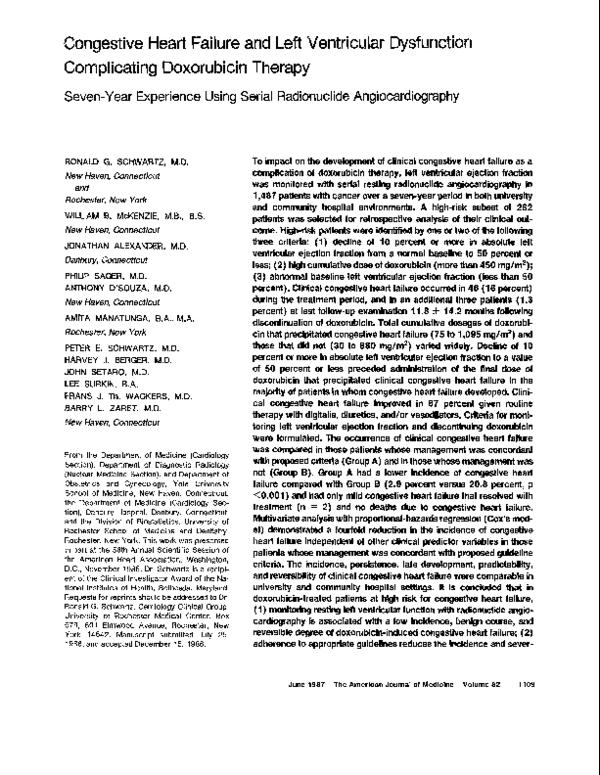 PDF) Congestive heart failure and left ventricular
