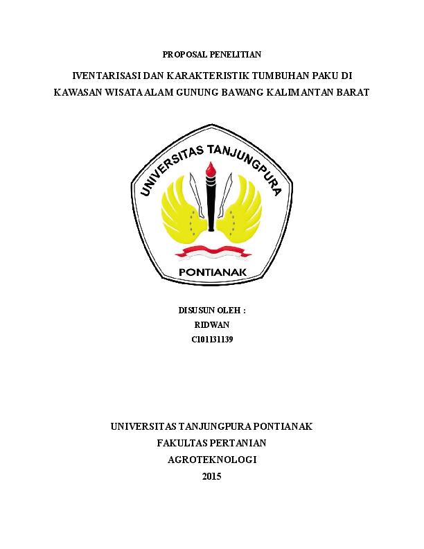 Doc Proposal Penelitian Di Gunung Bawang Kab Bengkayang Kalimantan Barat Ridwan Aja Academia Edu