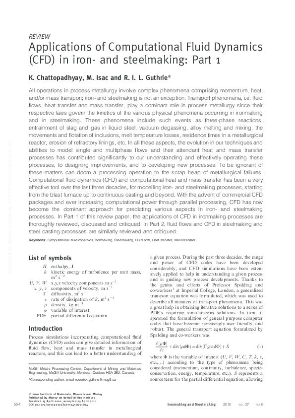 PDF) Applications of computational fluid dynamics (CFD) in