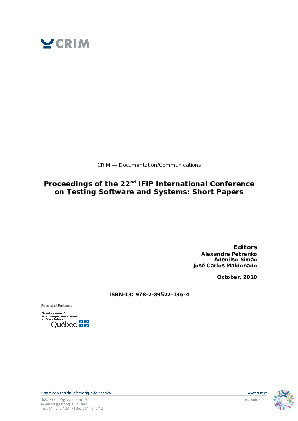PDF) Research in concurrent software testing | Simone Do