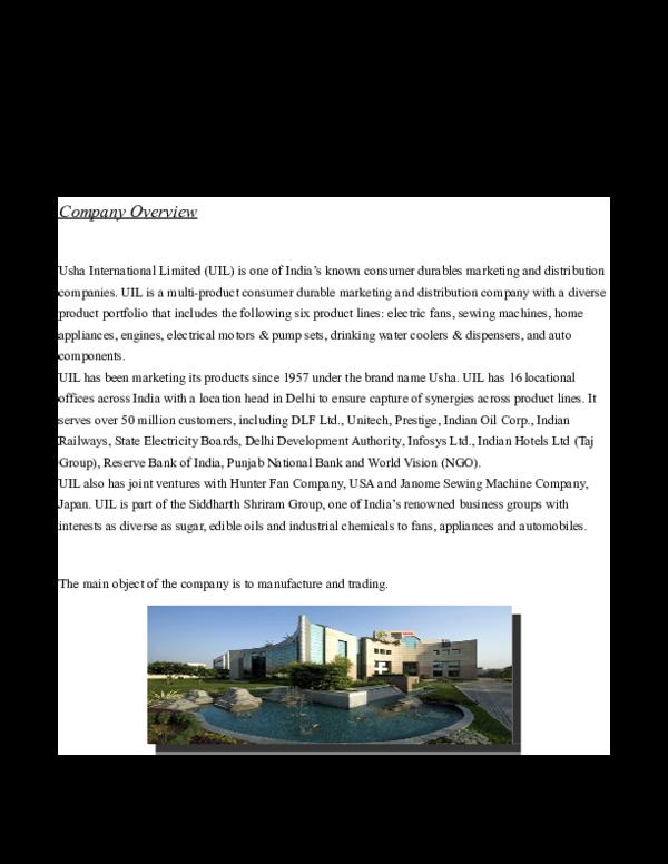 DOC) Market Research on Room Cooler Market Delhi/NCR
