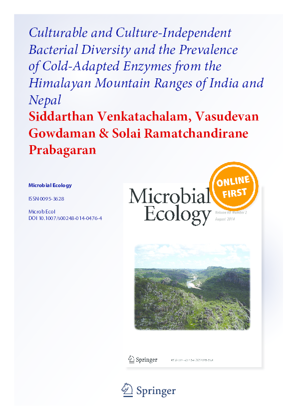 PDF) Culturable and Culture-Independent Bacterial Diversity