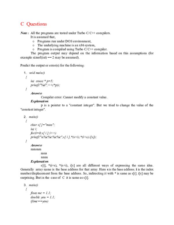 PDF) C Questions | Amit Prajapati - Academia edu