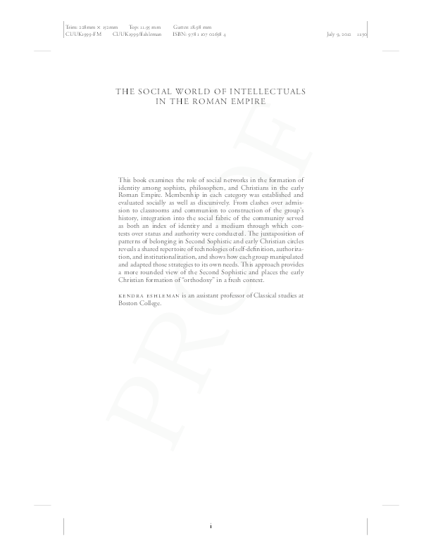 fa3aeec0ef PDF) The Social World of Intellectuals in the Roman Empire  Sophists ...