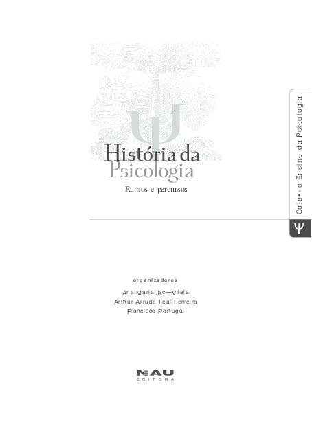 26bdd2417 PDF) História da Psicologia - Rumos e percursos   Rafaela Luiz ...