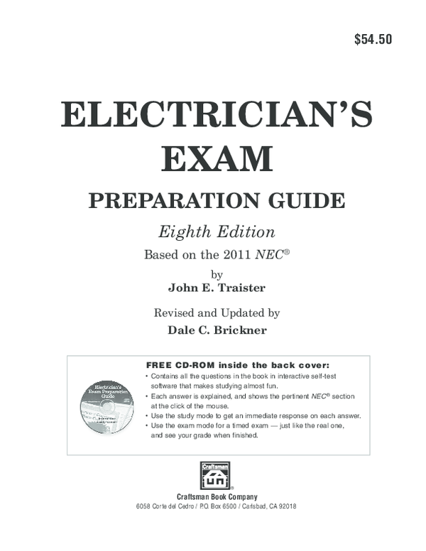 PDF) ELECTRICIAN'S EXAM PREPARATION GUIDE Eighth Edition Based on