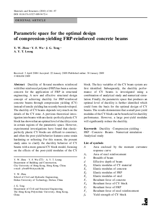 PDF) Parametric space for the optimal design of compression