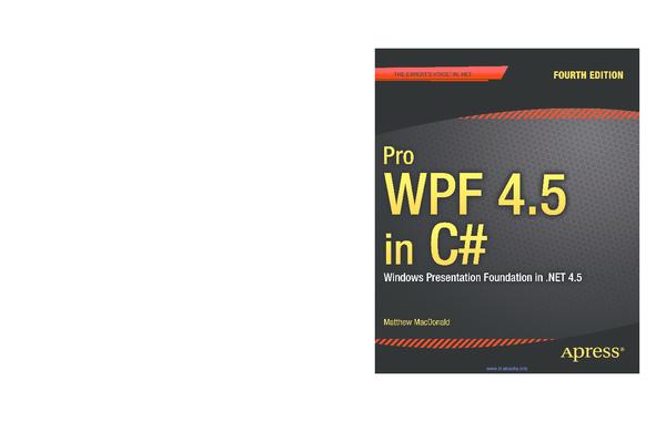 PDF) Pro WPF 4 5 in C# SOURCE CODE ONLINE   vero rmz - Academia edu