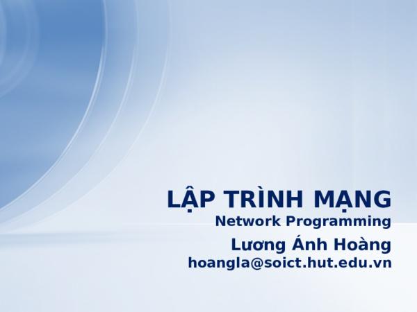 PPT) Lap Trinh Mang   Hiền Phạm - Academia edu