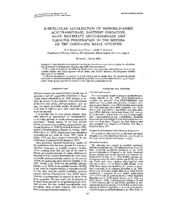 PDF) Subcellular localization of monoglyceride acyltransferase