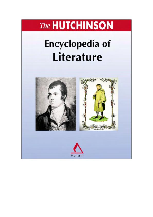 Encyclopedia Of Literature Kien Le Academia