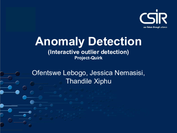 PDF) Anomaly Detection (Interactive outlier detection) Project-Quirk