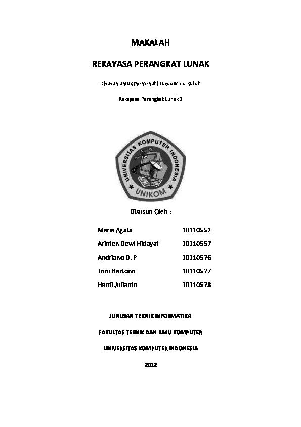 Pdf Makalah Rekayasa Perangkat Lunak Koperasi Bandung Academia Edu