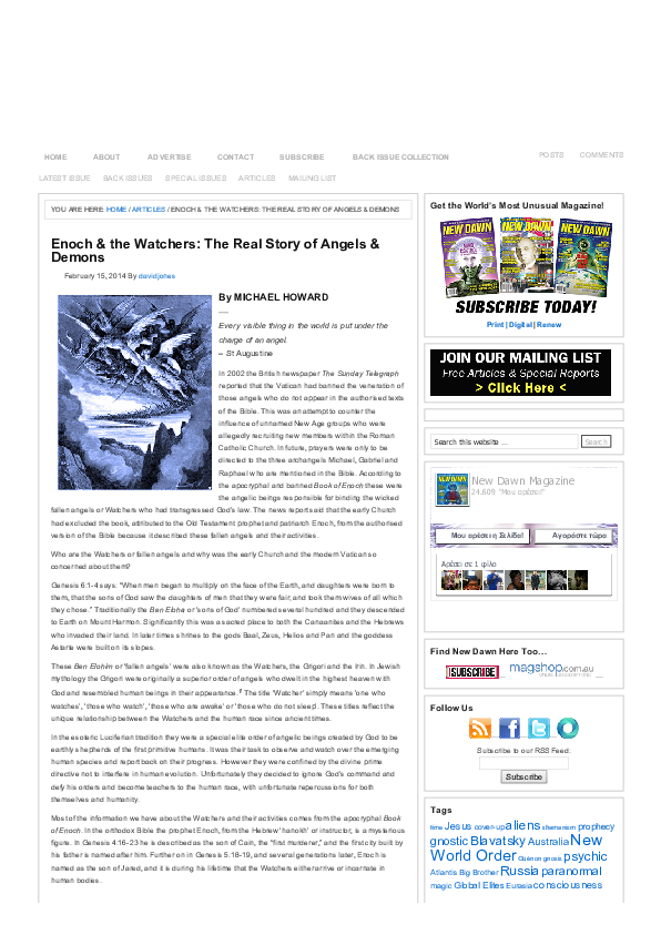 PDF) Enoch the Watchers The Real Story of Angels Demons